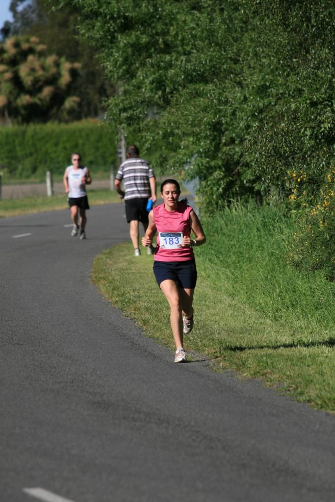 Emily running half marathon