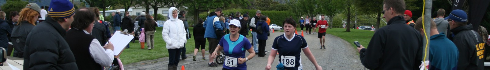Finishing the Outram Half Marathon