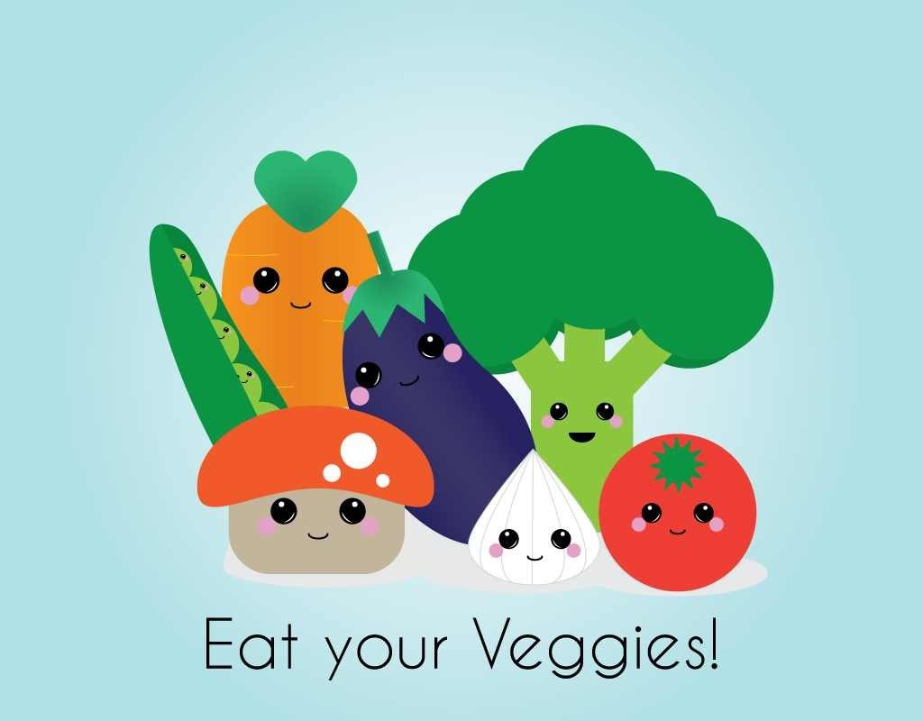 healthy eating guidelines: veggies are very important