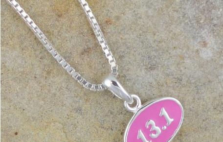 women runners jewelry 13.1 pink