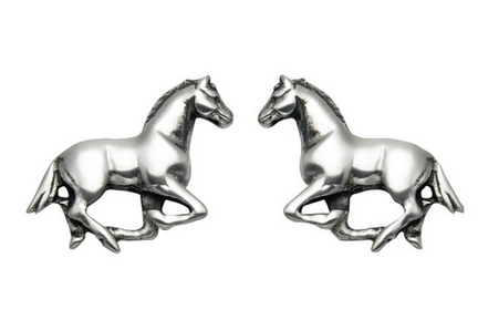 women runners jewelry horse studs