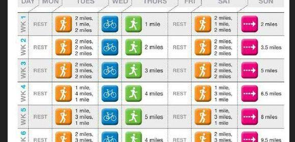 8 week beginner half marathon training