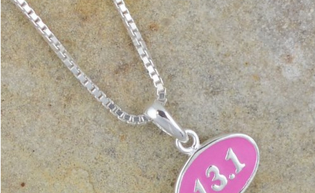 women runners jewelry 13.1 pink